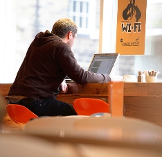 WiFi access for restaurant and lodging businesses